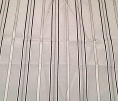 """White with Black Stripes - Silk/Cotton Satin (11""""x12"""")"""