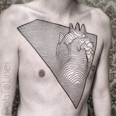 http://tattooideas247.com/line-heart-tattoo/ Line Heart Tattoo #Chest, #Heart, #Line, #Linework