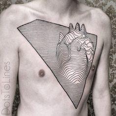 Line Heart Tattoo by Chaim Machlev Tattoo artist based in Berlin