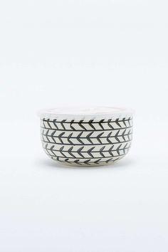 Petite boîte à déjeuner motif flèche noire et blanche - Urban Outfitters