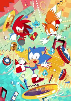 Sonic the Hedgehog, Knuckles the Echidna, and Tails Prower Sonic The Hedgehog, Hedgehog Art, Knuckles The Echidna, Sonic & Knuckles, Sonic And Amy, Sonic And Shadow, Du Dudu E Edu, Arte Do Harry Potter, Classic Sonic