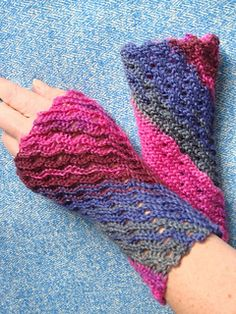 Whisper Waves are lacy cuffs crocheted with slip stitches.