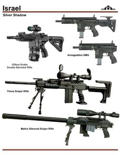 Small arms made in Israel.