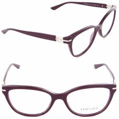 95f8294fe2 Versace Eyeglasses VE3205B VE 3205B 5123 Violet Silver Optical Frame 52mm