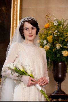 Mary on her wedding day. #DowntonAbbey