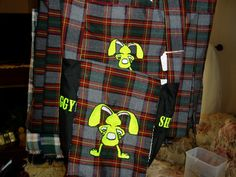 Bunny Butt Kilt with Matching Flour Bag is one of the many new Kilts I have been making...so much fun.