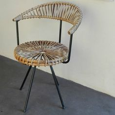 Rotan chair by Dirk Van Sliedrecht for Rohe - Vintage - Authentic and so
