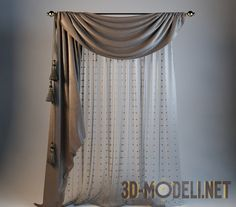 Blind to one side, with tassels Sliding Door Curtains, Sliding Door Window Treatments, Window Treatments Living Room, Home Curtains, Rustic Curtains, Living Room Sofa Design, Living Room Decor, New Living Room, Classic Curtains