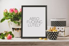 Printable qutoesWall artworkSex And The CityAbso by YourHomeArt