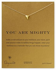 You can move mountains! Every purchase of this shield necklace donates $7 to a different charity ever week. Give back this holiday season & get this necklace here ► http://www.sevenly.org/you-are-migthy-necklace-18-1?cid=InflPinterest0005Joanna