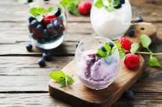 Ice cream with fresh berry and mint by OxanaDenezhkina #food #yummy #foodie #delicious #photooftheday #amazing #picoftheday