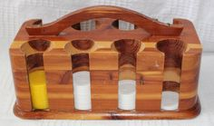Vintage Cheyenne Wyoming Souvenir Wood Poker Chip Caddy with Poker Chips