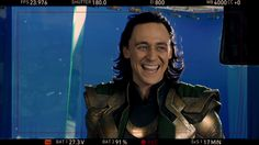Tom Hiddleston, behind the scenes, That classic laugh