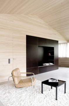 Architecture, Marvelous Living Room Interior With Wooden Wall And Ceiling Combine With Modern Furniture: Beautiful Small Home Design in Contemporary Ideas Architecture Design, Installation Architecture, Wooden House, Design Case, Interior Design Inspiration, Design Ideas, Home And Living, Simple Living, Interior And Exterior