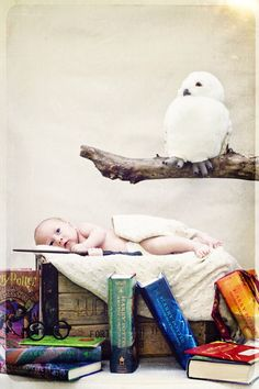 Harry Potter photo shoot Newborn Pictures, Baby Pictures, Baby Photos, Cute Pictures, Toddler Photography, Newborn Photography, Photography Ideas, Little Boy And Girl, Newborn Poses