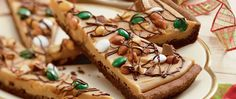 Here are a few of everyone's favorite things - chocolate, peanut butter, candy and pizza!