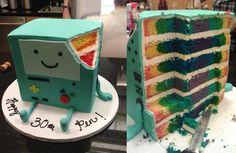 BMO Rainbow cake!!!!