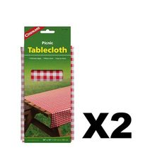 "Coghlan's Picnic Tablecloth 54""""x72"""" Heavy Weight Vinyl Camping Outdoor (2-Pack)"