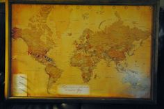 1 Year Anniversary Paper Gifts, travel map