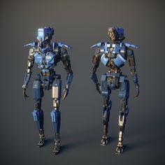 Police Robot, Zinan Liu on ArtStation at https://www.artstation.com/artwork/police-robot
