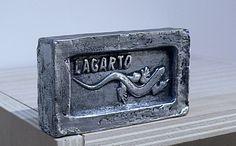 Copia de jabón Lagarto fundido en aluminio. Bronzo.