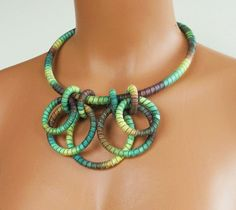 Fiber Necklace |  Patrice - Fibre2love