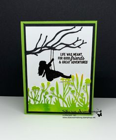 Stampin' Up! Silhouette Scene Greeting Cards - MakeUp For Women İdeas Birthday Cards For Her, Handmade Birthday Cards, Greeting Cards Handmade, Bday Cards, How To Make Greetings, Card Sketches, Stamping Up, Cool Cards, Flower Cards
