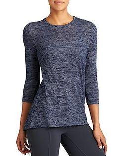 Soft Stripe Asana Top - The lightweight layering top with a sharkbite hem sure to be your go-to for that effortlessly polished look.