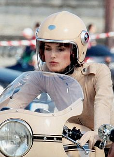 Keira Knightley on Ducati 750SS - Chanel advertising
