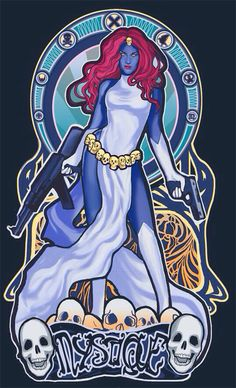 "Mucha Style - "" #TheLadiesOfXmen"" Illustration in style of ""Alphonse Mucha"" by ""Megan Lara"""