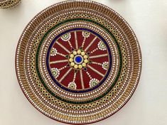 Your place to buy and sell all things handmade Pottery Painting Designs, Paint Designs, Arti Thali Decoration, Mandala Sketch, Wedding Art, Wedding Gifts, Marriage Decoration, Mandala Dots, Handmade Home