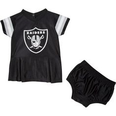 Our Raiders Baby Dazzle dress combines the look of a jersey and the  cuteness of a little cheerleader dress! It features team colors and logos 6c66309d5