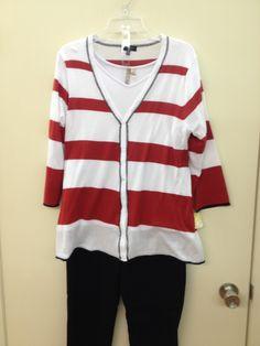 Nautical striped tunic sweater.