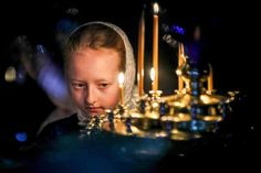 A girl from the Pokrov Orthodox children's social rehabilitation centre attends a Christmas liturgy at St Nicholas Church near Moscow. St Nicholas Church, Votive Candles, Catholic, Moscow, Centre, World, Photography, Children, Christmas
