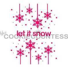 Let it Snow Cookie Stencil, Christmas Cookie Stencil, Snowflake Fondant Stencil, Snowflake Cookie Stencil, Snowflake Stencil Snow Cookies, Fun Cookies, Christmas Cookies, Snowflake Stencil, Star Stencil, Stencils, Let It Snow, Let It Be, Cookie Countess