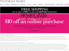 Victoria's Secret Coupons Promo Coupons will expired on JUNE 2020 ! Victoria 's Secret is the largest lingerie retailer in the Unite. Free Coupons Online, Free Printable Coupons, Dollar General Couponing, Coupons For Boyfriend, Love Coupons, Grocery Coupons, Extreme Couponing, Coupon Organization, Victoria Secret