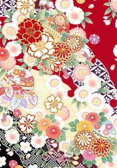 Living In Okinawa Japan - - - Japan Painting Culture - Japan Art Museum Japanese Textiles, Japanese Fabric, Japanese Prints, Chinese Flowers, Japanese Flowers, Chinese Patterns, Japanese Patterns, Flower Pattern Design, Flower Patterns