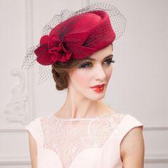 Dames Belle Automne/Hiver Coton avec Tulle Chapeaux de type fascinator (196075340)