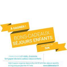A gagner en ce moment sur Familydays.fr, des bons-cadeaux pour des séjours et colos enfants en Provence ! Vous pouvez jouer jusqu'au 24 juillet et les bons-cadeaux sont valables jusqu'en juin 2016.