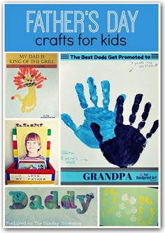 Father's day crafts for kids - homemade cards, gifts and books to read