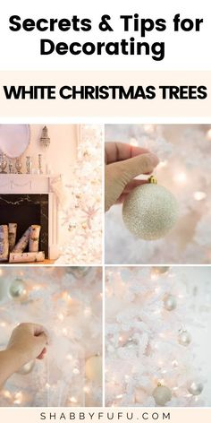 If you want to nail the white Christmas aesthetic, this is for you! In this post, I'll show you different ideas on how to decorate a white Christmas tree and make this Christmas a classy success. Christmas Tree Pictures, White Christmas Trees, Beautiful Christmas, Winter Christmas, Christmas Ideas, Diy Christmas Decorations Easy, Modern Christmas Decor, Christmas Table Settings, Christmas Aesthetic