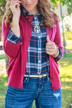 The Dainty Darling: Plaid + Fringe