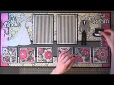 Faith Abigail Designs - Complete Wedding Series: Bride and Groom Double Scrapbook Layout Video Tutorial
