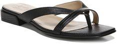 Adella Sandal Strappy Sandals, Flat Sandals, Slide Sandals, Flats, Black Sparkle, Low Heels, Open Toe, Slip On, Warm Weather