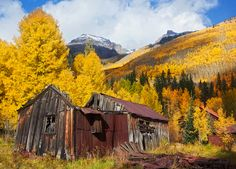 Ironton ghost town in fall - Colorado. By Matthew Santomarco