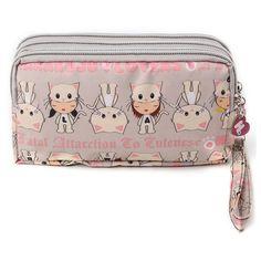 Women Lady Triple Zip Wallet Purse Long Handbag Clutch Bag Phone Case... (405 RUB) ❤ liked on Polyvore featuring bags, wallets, beige, long bag, zipper wallet, print wallets, long zipper wallet and multi color wallet