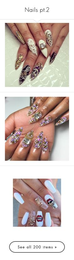 """""""Nails pt.2"""" by iimixedbeautyii ❤ liked on Polyvore featuring beauty products, nail care, nail treatments, nails, nail, tattoos, unhas, beauty, nail art and nail polish"""