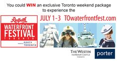 You could WIN a grand prize package to Redpath Waterfront Festival! Giveaways, Memes, Movie Posters, Meme, Film Poster, Billboard, Film Posters
