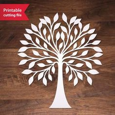 Tree Vector cutting file for Silhouette, Cricut or laser cutting. Stencils, Tree Stencil, Stencil Art, Stencil Patterns, Stencil Designs, Cricut, Tree Svg, Metal Tree Wall Art, Wooden Tree