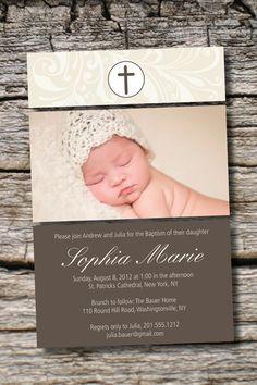 WHIMSICAL BAPTISM Photo Custom Baptism Invitation/Christening Invitation/Communion Invitation- You Print on Etsy, $17.94 AUD